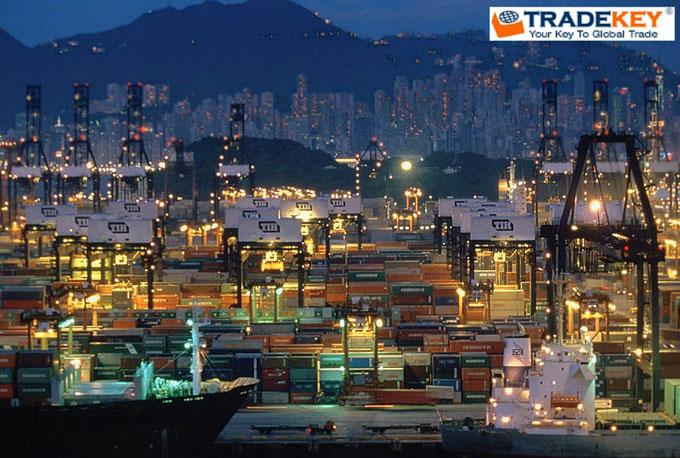 China port of Hong Kong - Night Vision - TKNews