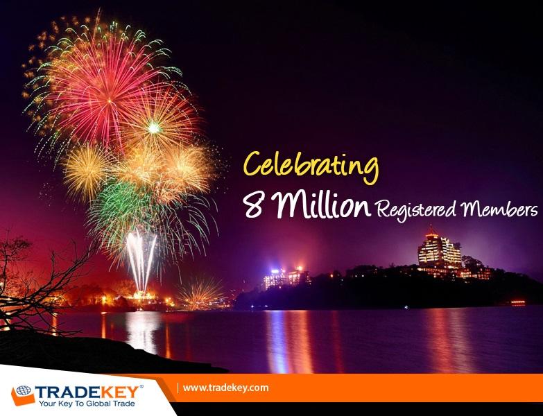TKN - 8 Million users registered at TradeKey now!